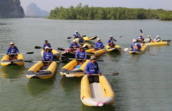 Thailand Kayaks  travel Royalty Free Stock Images