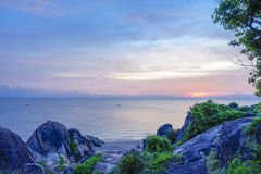 Thailand, Khao Kao Seng, Songkhla. Nice atmosphere on the beach of Khao Kao Seng in Songkhla, Thailand, Asia Royalty Free Stock Photo
