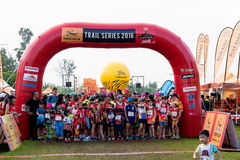 Thailand, Khaoyai - October 2, 2016,Trail series 2016 of tiger balm. It is trail runner event in khaoyai at Thailand. Royalty Free Stock Images