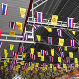 Thailand King Rama IX flag and National flag of Thailand Stock Images
