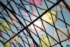 Thailand kites arranged in a pattern Stock Photos