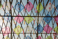 Thailand kites arranged in a pattern Stock Photography