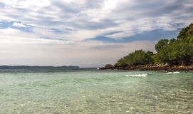 Thailand Knock-out-LAN-solnedgång ö Arkivfoton