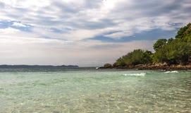 Thailand, knock-out-Lan-Zonsondergang eiland Stock Foto's