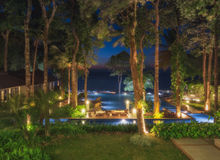 Thailand. Ko Chang. Hotel Chang Buri Resort evening overlooking the sea Royalty Free Stock Image