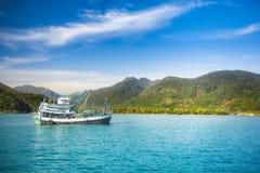 THAILAND, KO CHANG.  Thailand tropical island of Koh Chang. Fishing boat. Royalty Free Stock Image