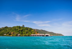 THAILAND, KO CHANG. Thailand tropical island of Koh Chang. Hotel Tantawan-Resort Royalty Free Stock Photos