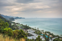 THAILAND, KO CHANG. Thailand tropical island of Koh Chang. Observation Deck White Sand Beach Stock Image