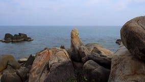 Thailand, Ko Samui, Hin Ta en Hin Yai, Lamai-Strand stock footage