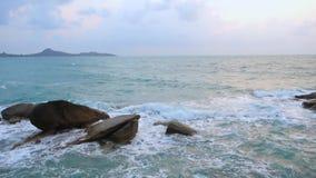 Thailand, Ko Samui, Lamai-Strand stock videobeelden