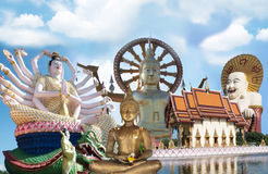 Thailand Ko Samui Wat Plai Laem Big Buddha stock photo