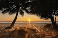 Thailand. Koh Chang island. Sunset on the beach White Sand Beach Stock Photos