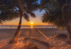 Thailand. Koh Chang island. Sunset on the beach White Sand Beach Royalty Free Stock Photography