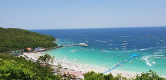 THAILAND , KOH LARN PATTAYA April 11, 2018 Summer time in. Thailand on maximum view point in koh larn pattaya royalty free stock photography