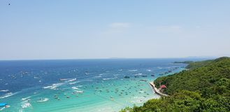 THAILAND , KOH LARN PATTAYA April 11, 2018 Summer time in. Thailand on maximum view point in koh larn pattaya royalty free stock photos
