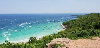 THAILAND , KOH LARN PATTAYA April 11, 2018 Summer time in. Thailand on maximum view point in koh larn pattaya royalty free stock image