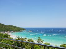 THAILAND , KOH LARN PATTAYA April 11, 2018 Summer time in. Thailand on maximum view point in koh larn pattaya stock photography