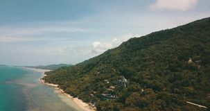 Thailand Koh Phangan Nature Sea Sand Blue Freedom. Thailand Koh Samui Nature Sea Sand Blue Freedom Tropical Palms Forest Mountains stock footage