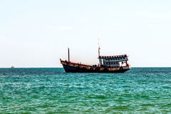 Thailand Koh Samet Old Ship. In the Sea Royalty Free Stock Photos