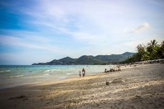 Thailand, Koh Samui, 1 april 2013 panoramic view Royalty Free Stock Photography