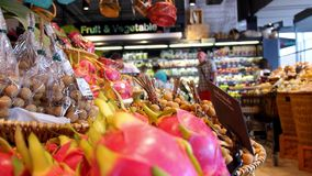 THAILAND, KOH SAMUI, 05/05/15 - Closeup Fruits in. Supermarket for Sale. HD, 1920x1080 stock video