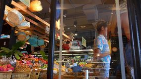 THAILAND, KOH SAMUI, 05/05/15 - Customers in stock video