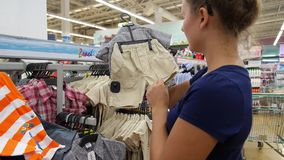 THAILAND, KOH SAMUI, JANUARY 2015 - Woman Shopping stock footage