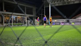 THAILAND, KOH SAMUI, 16 july 2014 Soccer players Stock Photography