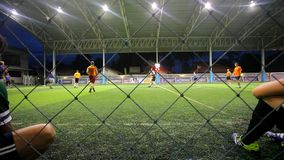 THAILAND, KOH SAMUI, 16 july 2014 Soccer players Royalty Free Stock Photos