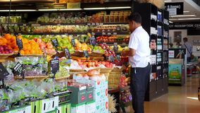 THAILAND, KOH SAMUI, 05/05/15 - Male Customer stock video footage