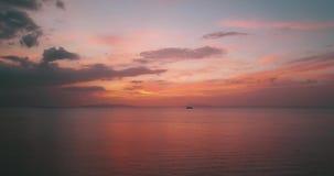 Thailand Koh Samui Nature Sea Sunset Freedom. Pink Tropical Aeral Mavic 4k stock footage