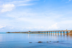 Thailand Koh seaside pier Stock Photo