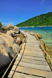 Thailand Koh Tao - a paradise island Boardwalk Royalty Free Stock Photo
