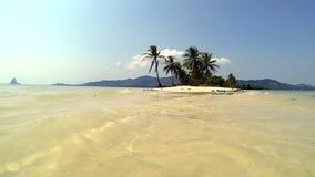 Thailand Koyao Island, Woman walking in the ocean stock video footage