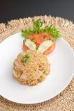 Thailand-Krabbe Fried Rice Lizenzfreies Stockfoto