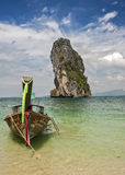 Thailand, Krabi province . The islands in the Andaman Sea . Boat Royalty Free Stock Image