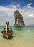 Thailand, Krabi-Provinz Die Inseln im Andaman-Meer Boot Lizenzfreies Stockbild
