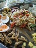 Thailand-Kricketspielererdnusssalat Stockbild