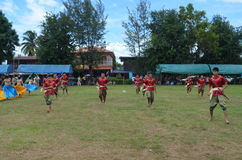 Thailand kulturell show Arkivbild