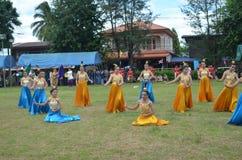 Thailand kulturell show Arkivfoto