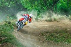 Thailand Lampang-motocross Royaltyfri Foto