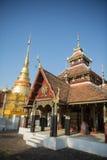 THAILAND LAMPANG WAT PONGSANUK TEMPEL Royaltyfri Fotografi
