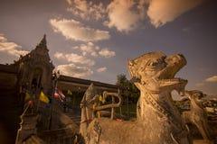 THAILAND LAMPANG WAT PRATHAT LAMPANG LUANG. The Wat Prathat Lampang Luang near of the city of Lampang in North Thailand Royalty Free Stock Photo