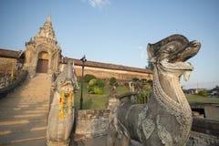 THAILAND LAMPANG WAT PRATHAT LAMPANG LUANG. The Wat Prathat Lampang Luang near of the city of Lampang in North Thailand royalty free stock photography