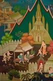 Thailand, Land von Buddhismus (300 Jahre alt) stock abbildung