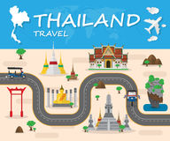 Thailand Landmark Global Travel And Journey Infographic brochure Royalty Free Stock Photo