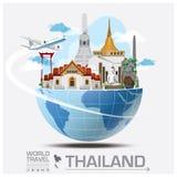 Thailand Landmark Global Travel And Journey Infographic. Vector Design Template Stock Photos