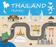 Thailand Landmark Global Travel And Journey Infographic. Vector Design Template.vector illustration Royalty Free Stock Photography