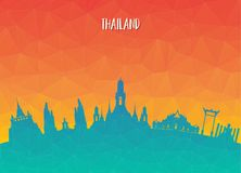Thailand Landmark Global Travel And Journey paper background. Ve. Ctor Design Template.used for your advertisement, book, banner, template, travel business or Royalty Free Stock Photography