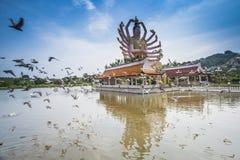 Thailand landmark in koh Samui, Shiva sculpture royalty free stock photos